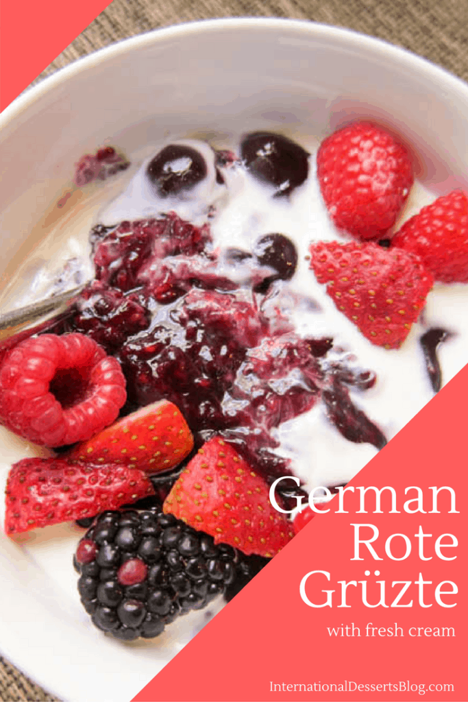 Fruity German Rote Grütze is the perfect summer dessert!
