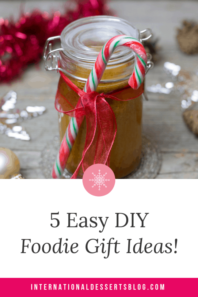 Have fun making these creative DIY Chrismtas gifts for family, coworkers, friends, grandparents, and teachers. These easy holidayfood in a jar gifts are unique and make great party favors or Secret Santa gifts. If you're on a budget, take a look at how to make these delicious food gift recipes.#diygifts #christmasgifts #intldessertsblog