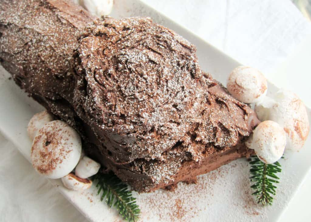 Bûche de Noël (French Yule Log Cake)