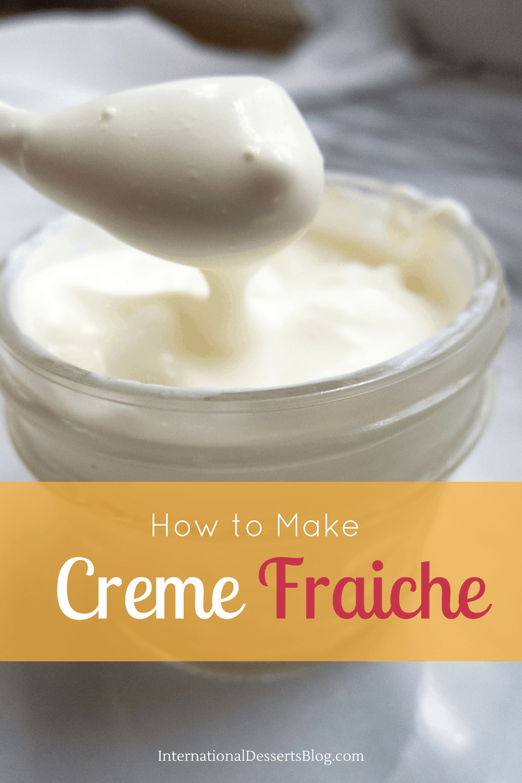 how to make creme fraiche international desserts blog. Black Bedroom Furniture Sets. Home Design Ideas