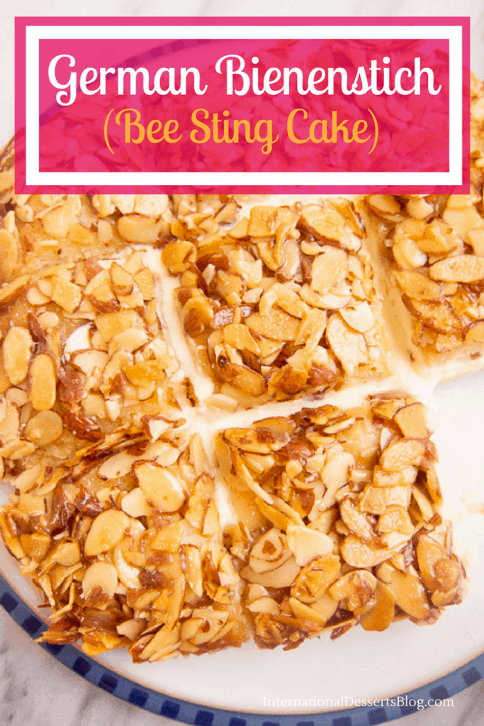 You've got to try this creamy, crunchy honey-flavored German bee sting cake! It's a classic and so good.