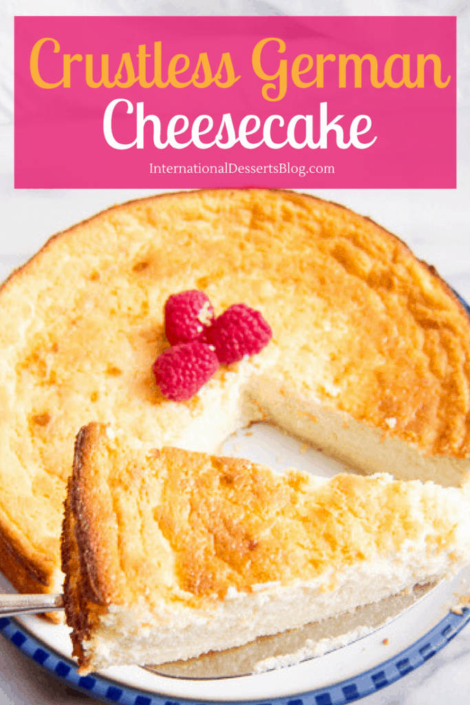 Easy Crustless German Cheesecake | International Desserts Blog