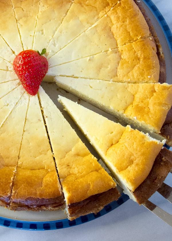 Best German Cheesecake With Quark Crustless Cheesecake Version International Desserts Blog