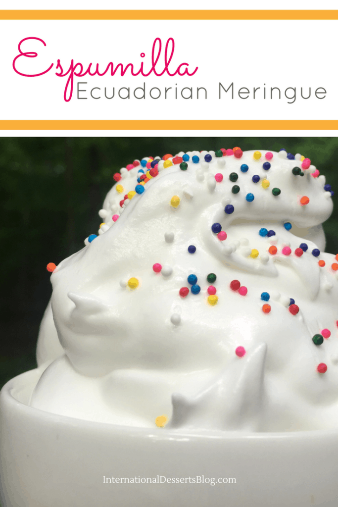 You've got to try Espumilla - a traditional meringue dessert from Ecuador!
