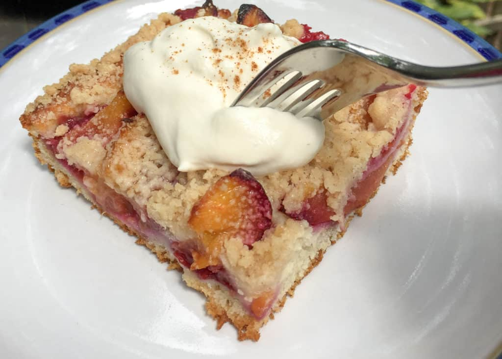 German plum cake is SO good!
