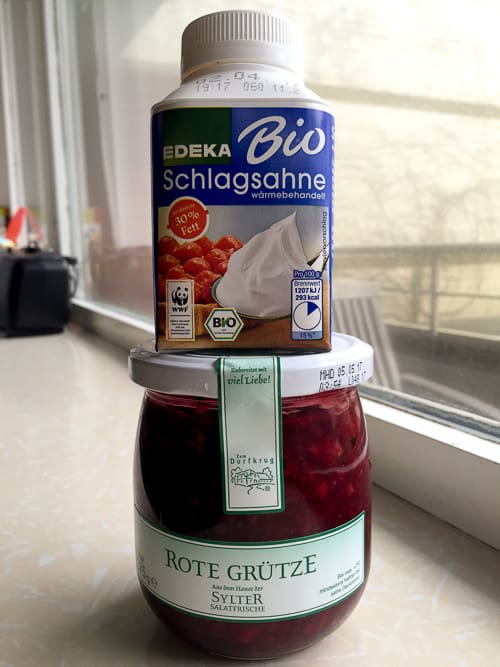 Rote Grütze from a German grocery store