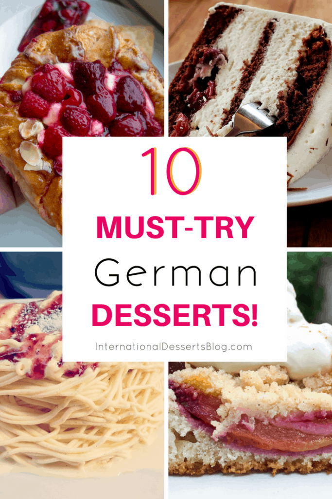 Check out these authentic and traditional German desserts! Try them while traveling in Germany or make these easy classic recipes at home! #germanfood #traveltips #intldessertsblog