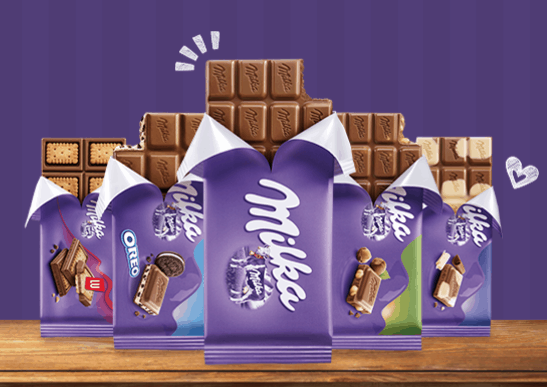 Milka chocolate from Germany