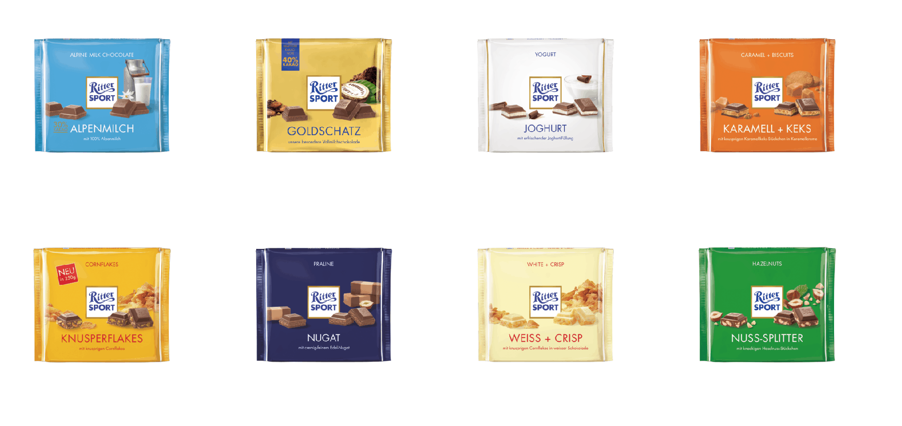 Ritter Sport chocolate from Germany