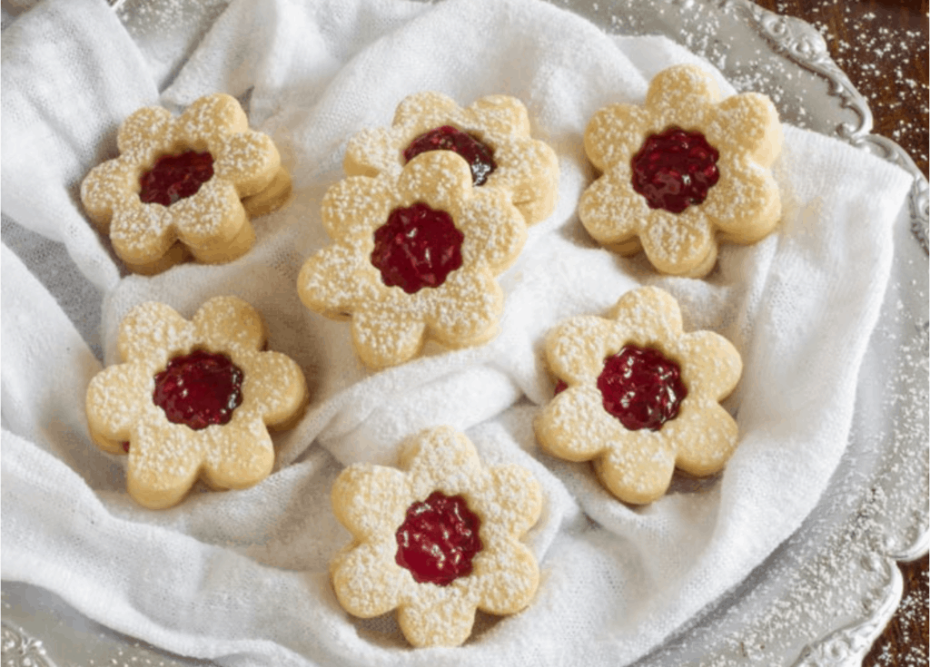 Homemade Raspberry Linzer Cookies