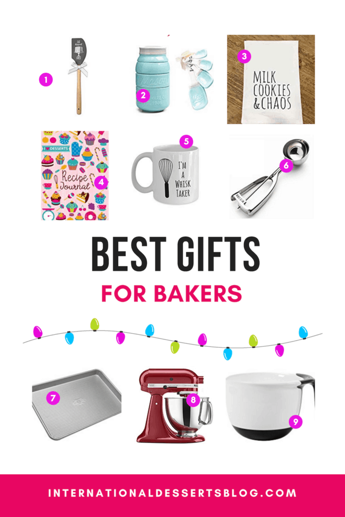 The best Christmas gifts for bakers! Unique gift ideas bakers will love and products they'll actually use to make you even more homemade treats! #christmasgifts #giftideas #intldessertsblog