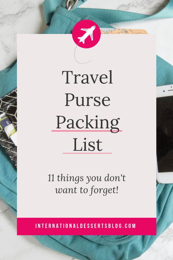 Choosing a travel purse is one of the MOST important packing decisions.. Learn from my mistakes! My guide helps you choose the perfect travel handbag for Europe and beyond - crossbody, anti-theft, stylish, backpack, RFID, with water bottle holder, tote, small, large, lightweight...I'll help you choose the best purse with the essentials you need! #besttravelpurse #womentravel #travelpacking #intldessertsblog