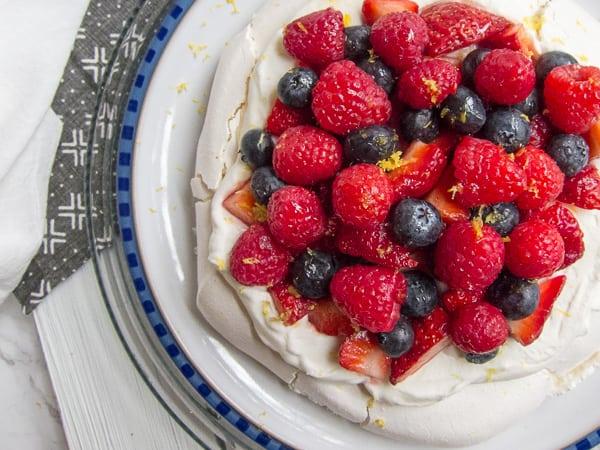 Easy Lemon Berry Pavlova Dessert International Desserts Blog