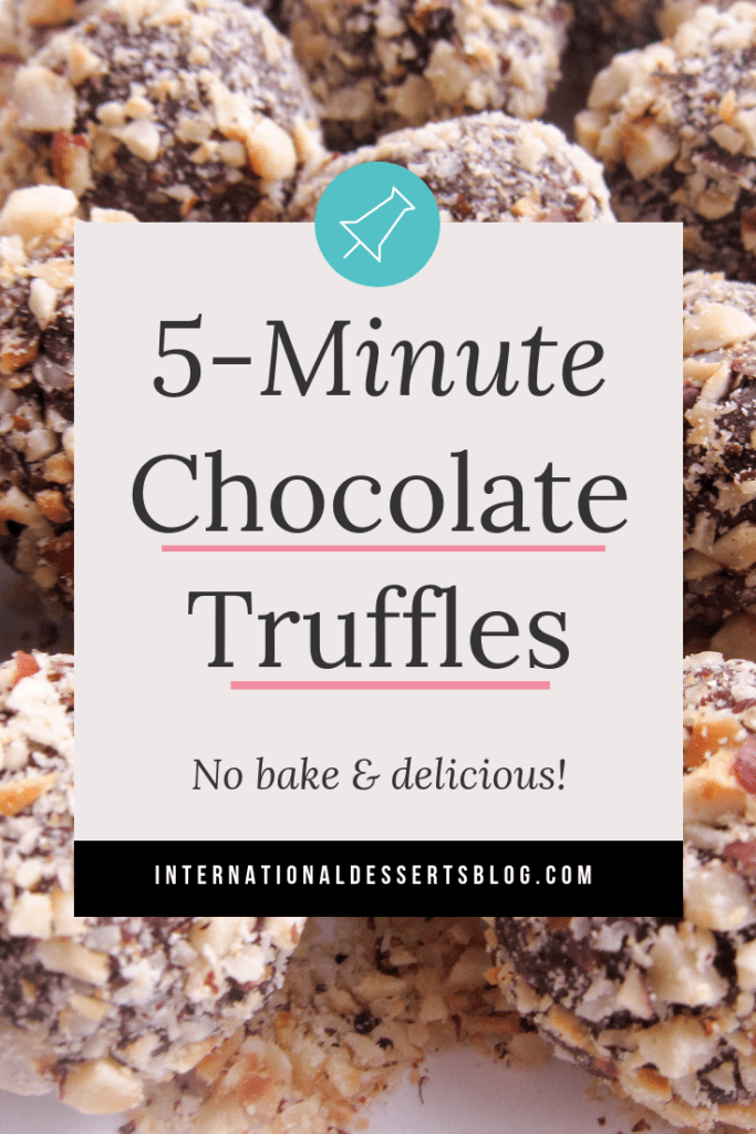 Need a simple, easy, and quick dessert? These no bake chocolate hazelnut cheesecake truffles are for you! Gluten free, takes just a few minutes to prepare, and so good, these truffles are the best! #easydesserts #chocolate #intldessertsblog