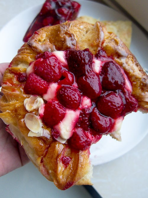 Raspberry pastry from a bakery in Germany