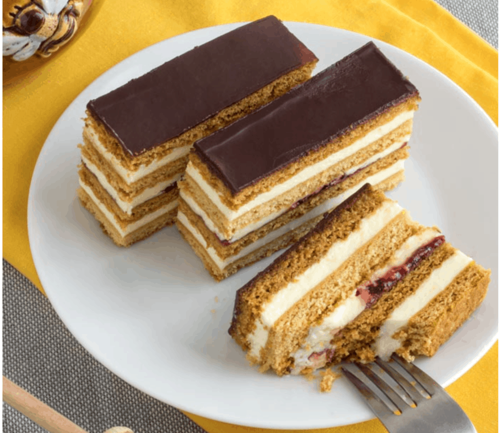 Honey Cake Slices Slovakian Petit Fours