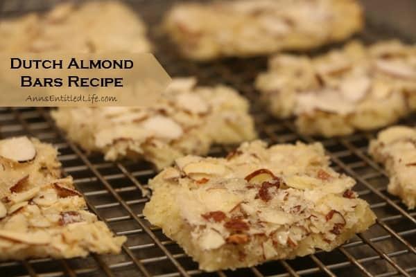 Dutch Almond Bars