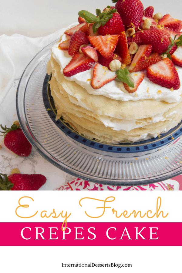 Remarkable Lemon Strawberry French Mille Crepes Cake International Desserts Birthday Cards Printable Benkemecafe Filternl