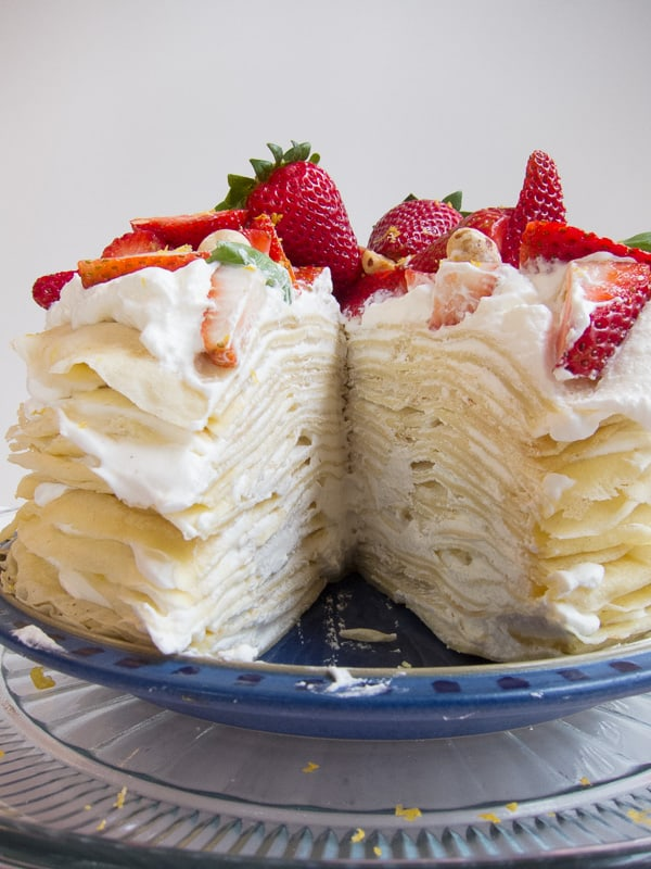 Lemon Strawberry French Mille Crepes Cake International
