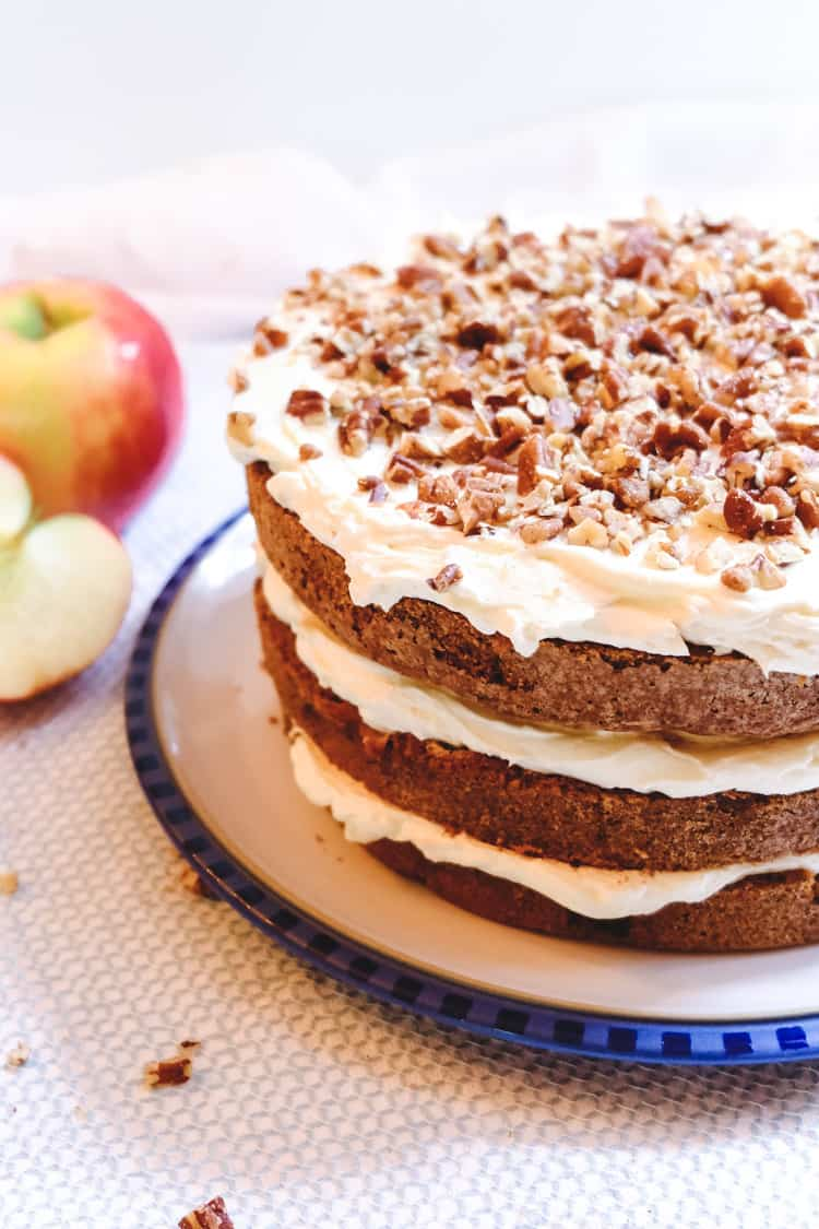 Awe Inspiring Apple Spice Birthday Cake With Brown Butter Golden Syrup Personalised Birthday Cards Veneteletsinfo