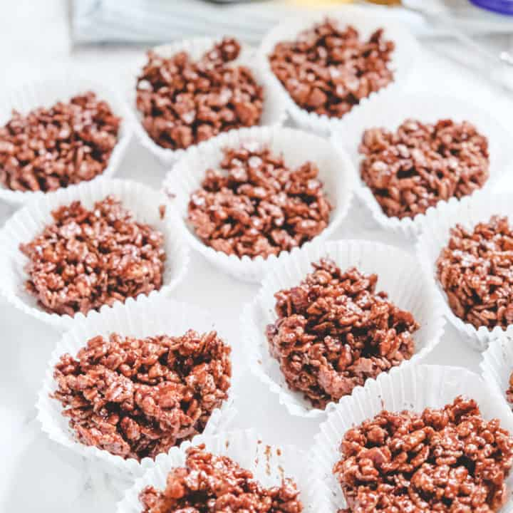 Chocolate Rice Krispie Cakes with Golden Syrup