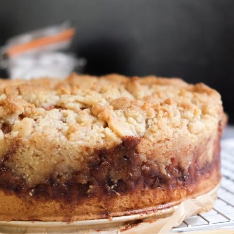German Apple Cake with Streusel