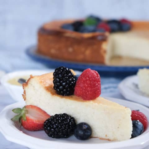 Best German Cheesecake with Quark (Crustless Cheesecake Version)