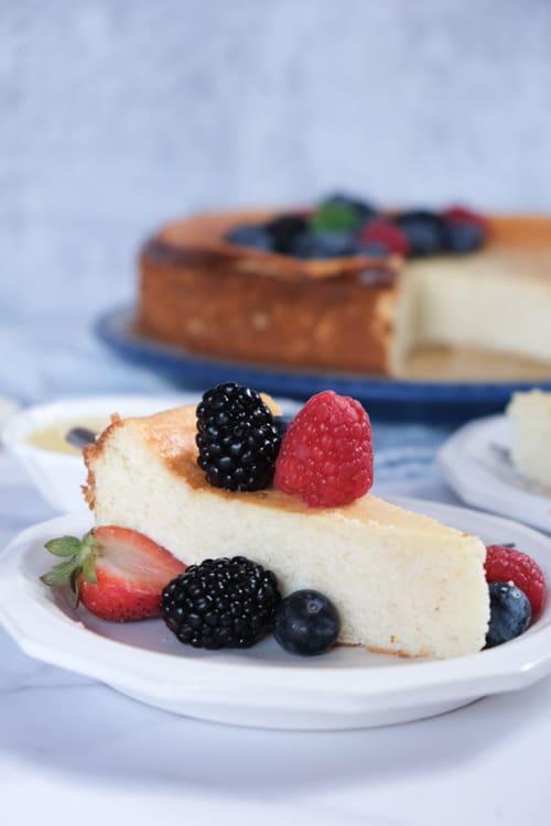 Best German Cheesecake with Quark (Crustless Cheesecake Version)