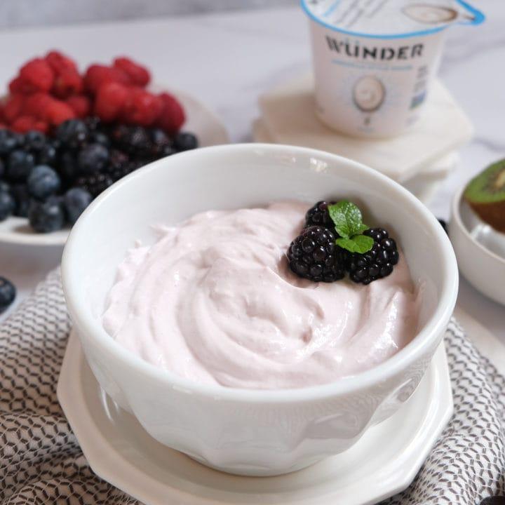 Blackberry Dessert Quark