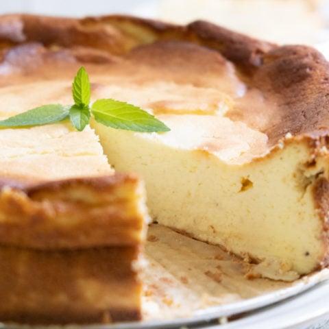 Classic German Cheesecake with Quark
